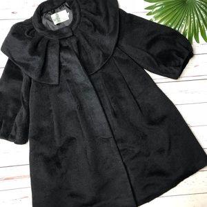 {RYU} sz M black faux fur winter coat